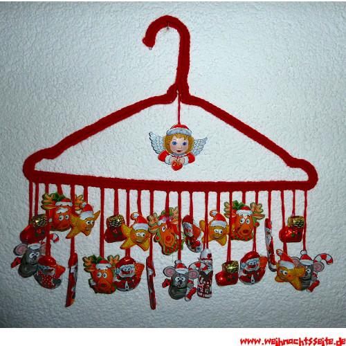 Basteln Mit Kleiderbügel adventskalender am kleiderbügel