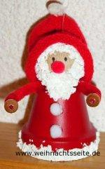 Bastelanleitung für Mini-Tontopf-Weihnachtsmänner